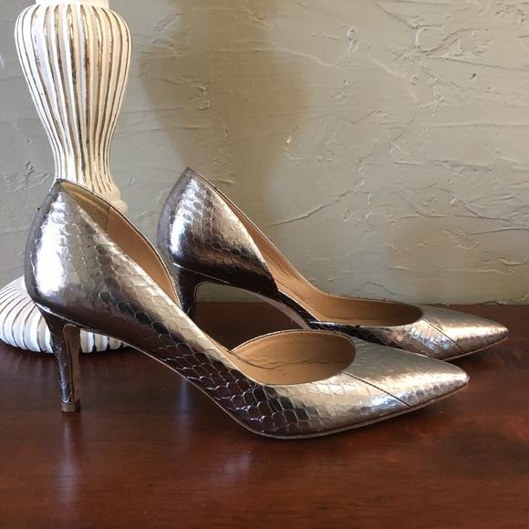 c971dcfff1f6 J. Crew Shoes - J.Crew Collection Metallic Snakeskin D Orsay Heels