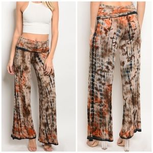 Pants - Tie Dye Pants Woman's Casual Large Medium Small