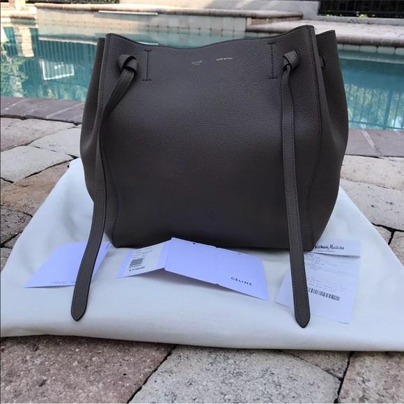 53ef1e38c491 Celine Handbags - Celine Small Cabas Phantom Calfskin Taupe Bag
