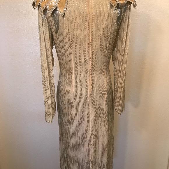 Vintage Dresses - Gorgeous vintage beaded 100% silk dress