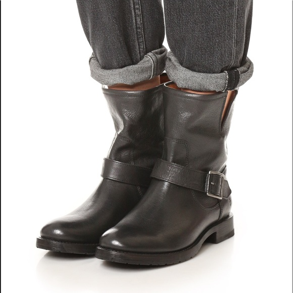 cad5f00ee828 Frye Shoes   Black Natalie Short Engineer Boots In Boxsale   Poshmark