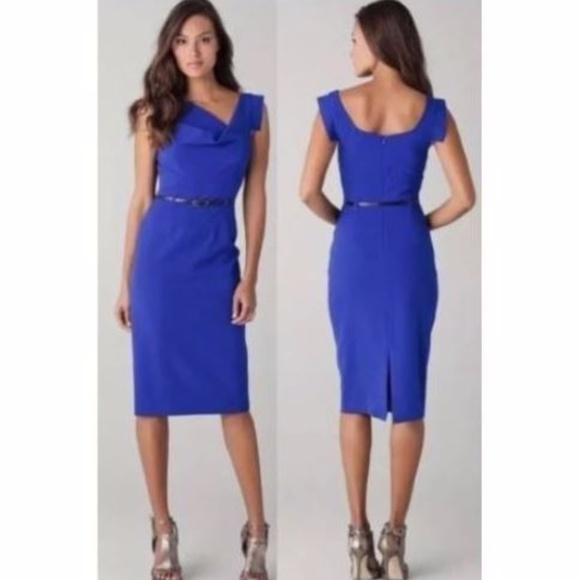 be92edeb Black Halo Dresses | Cerulean Blue Jackie O Sheath Dress | Poshmark