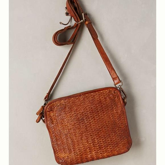 830bfbdc1eca Anthropologie Handbags - Anthropologie Tano Amparo Woven Leather Crossbody