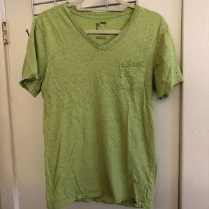 PacSun On The Byas V-Neck Pocket Tee - Chartreuse