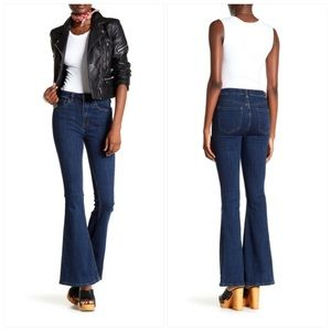 Free People High Rise Flared Jean