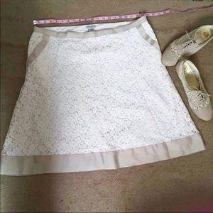 Issac Mizrahi Cream Lace Skirt