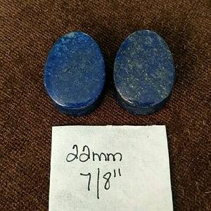 """Jewelry - Lapis lazuli natural Stone plugs 22mm 7/8"""""""