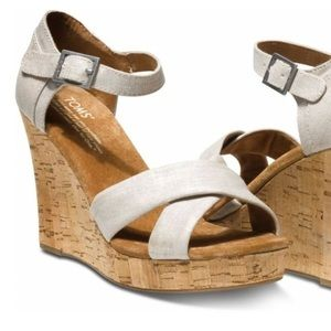 Shoes - Toms cork wedge
