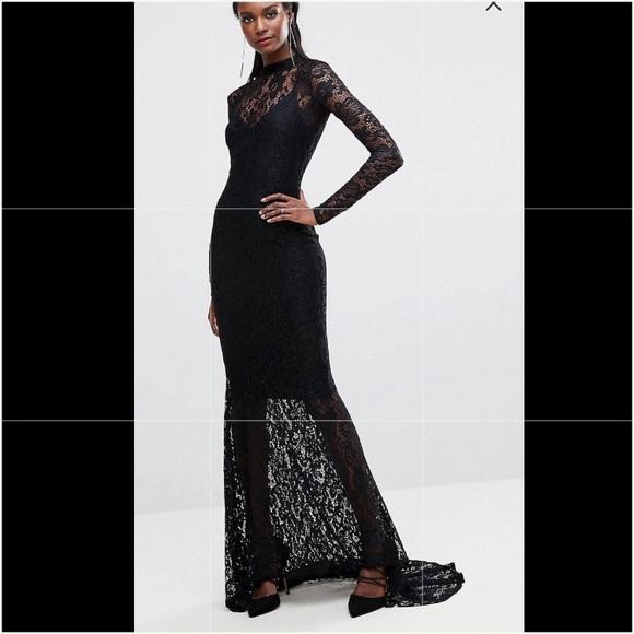 bf15f3c5c31 ASOS Dresses   Skirts - Club L Lace Allover Fishtail Maxi Dress