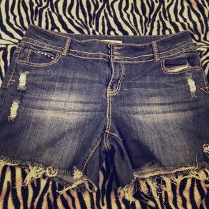 Cuttoff studded Jean Shorts