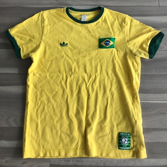 sale retailer 98a78 77e50 Classic Men's Adidas Brazil World Cup Greatest