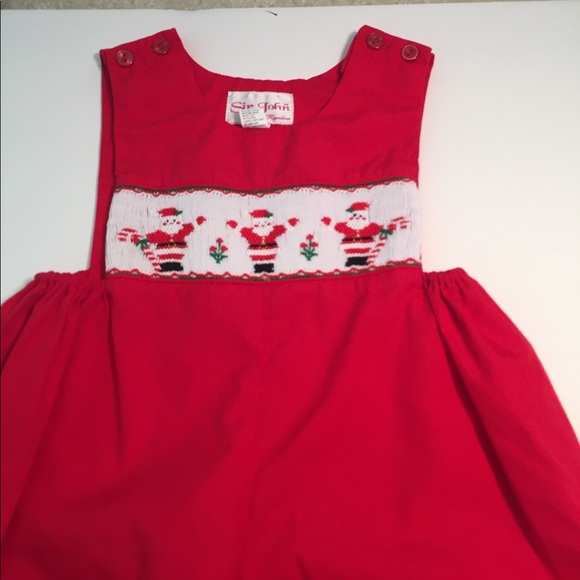 1fac5abf3810c sir john One Pieces | Smocked Boys Red Christmas Longall 12 Months ...