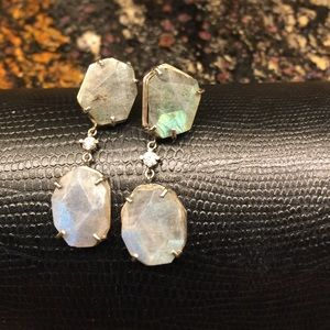 Jewelry - Labradorite and diamond earrings
