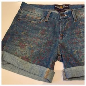 Lucky Brand Denim Shorts, Floral Print, 27/4