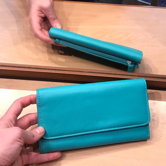 Charming Charlie Handbags - NWOT turquoise wallet