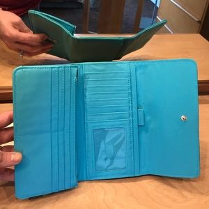 Charming Charlie Bags - NWOT turquoise wallet