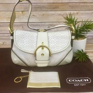 COACH HANDBAG AND MINI CARD CASE