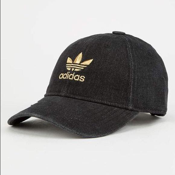 Adidas Originals Relaxed Denim Dad Baseball Hat ee672f1d41f8