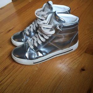 Marc By Marc Jacobs Shoes - Marc by Marc Jacobs metallic high tops