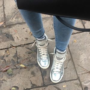 Marc by Marc Jacobs metallic high tops