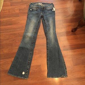 Bebe studded blotchy jeans