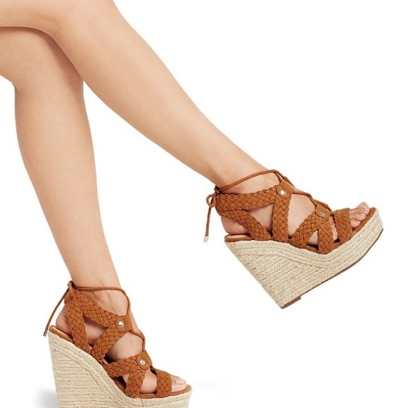 5ad44ad4113d Target Platform Lace Up Espadrille Wedge Sandals. M 59f4defc4225bee179024a54