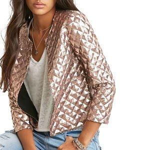 Jackets & Blazers - ✵NWT Plaid Sequin Short Blazer Biker Jacket✵
