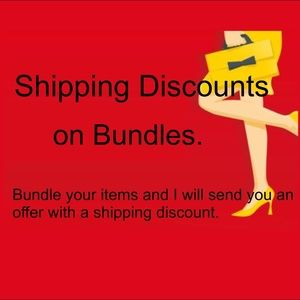 Other - Shipping discounts on bundles!