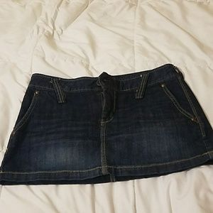 Quality denim X2 mini skirt