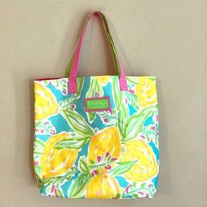 LILLY PULITZER For Estée Lauder Floral Tote Bag