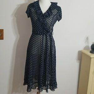 Vintage See trough Secretary Dress