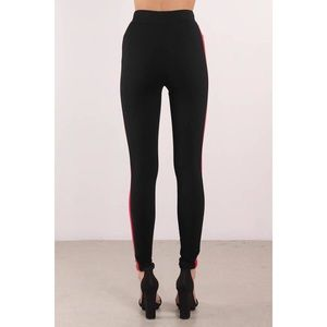 Pants - Black Red Stripe Pants