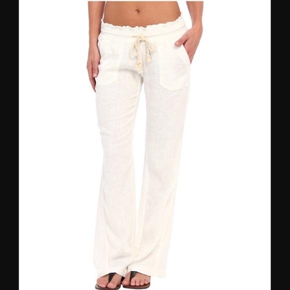4d83d7b91a Roxy Pants | Oceanside Linen Beach Xl 32 Inseam | Poshmark
