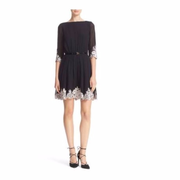 d2dc51343 Ted Baker UK Feay Belted Lace Embellished Dress. M 59f4e716c6c79598d302676f