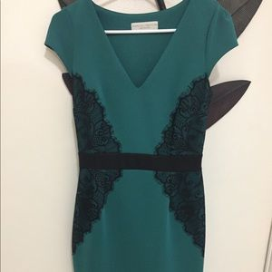 Dorothy Perkins teal lace dress