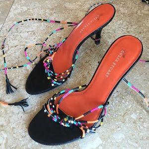 Colin Stuart Ankle strap tie up heels
