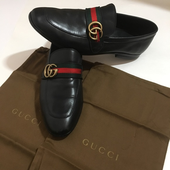 5ca2a7bd3 Gucci Other - Gucci Black Dress Shoes Signature GG Size 10.5
