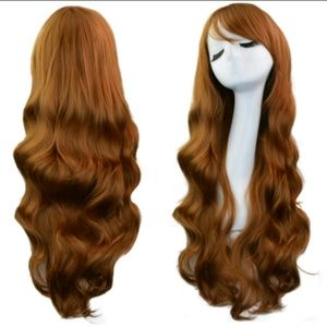 """Accessories - 32"""" light brown curly cosplay wig"""