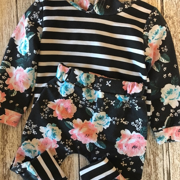 d33ae9d8b Fuerjiafushi Matching Sets | Baby Girl Outfit 12 Months Flowers ...