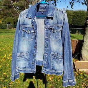 Silver Jeans Rianna Denim Jacket Large EUC