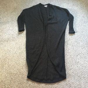 Goth Black Cardigan Long Duster Sweater