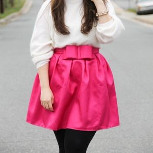Pink Bow Mini Skirt