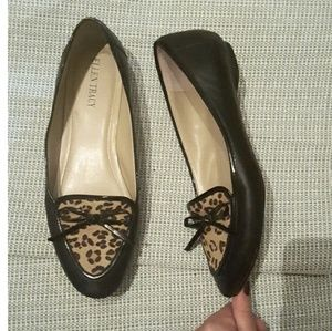 Ellen Tracy leopard leather flats size 8.5