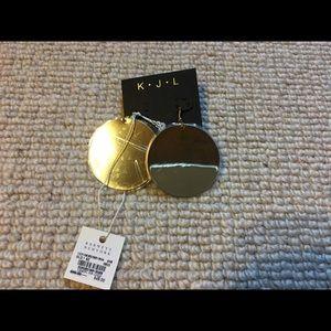 Kenneth jay lane large gold disk earrings