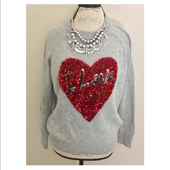 41ce59196d7 H M Sweaters - HM I ❤ Sequin Christmas Sweater. Sz M