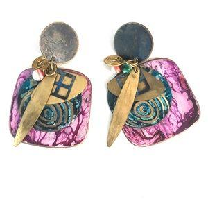 Vintage 80's earrings