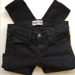 WildFox black skinny Carmen Airkiss Jeans size 27