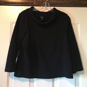 XL Black 3/4 Sleeve Turtleneck Sweater