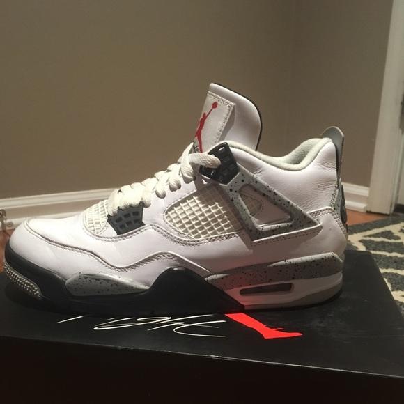 Nike Air Jordan Retro 4 White Cement Men's 7.5