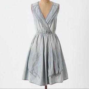 Anthropologie Maeve Denim draped dress
